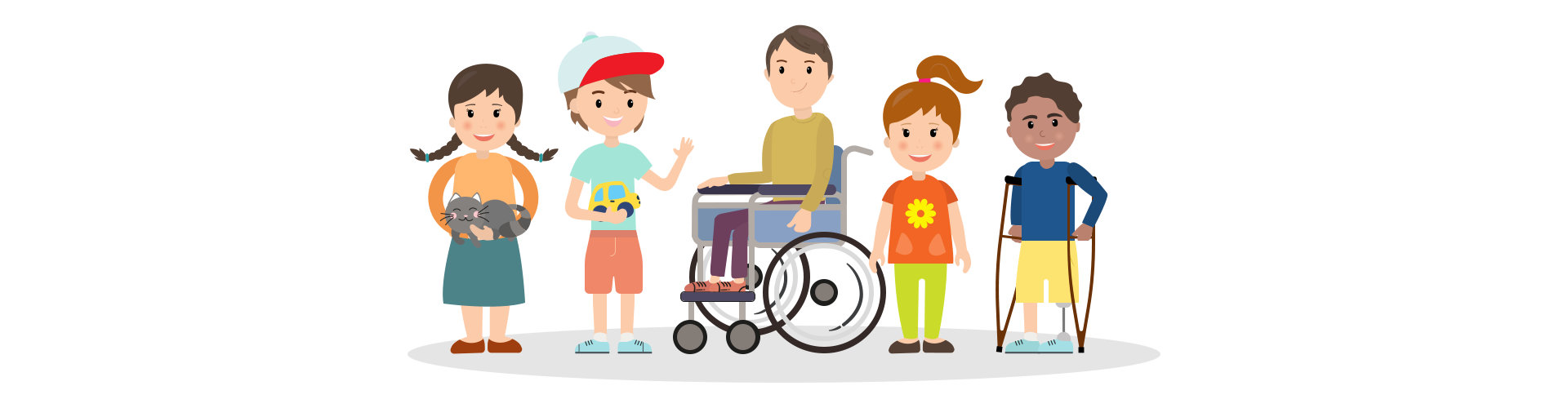friends and handicapped children